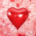 Balon foliowy serce 45cm czerwony