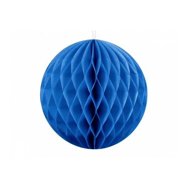 Kula bibułowa niebieska 10cm