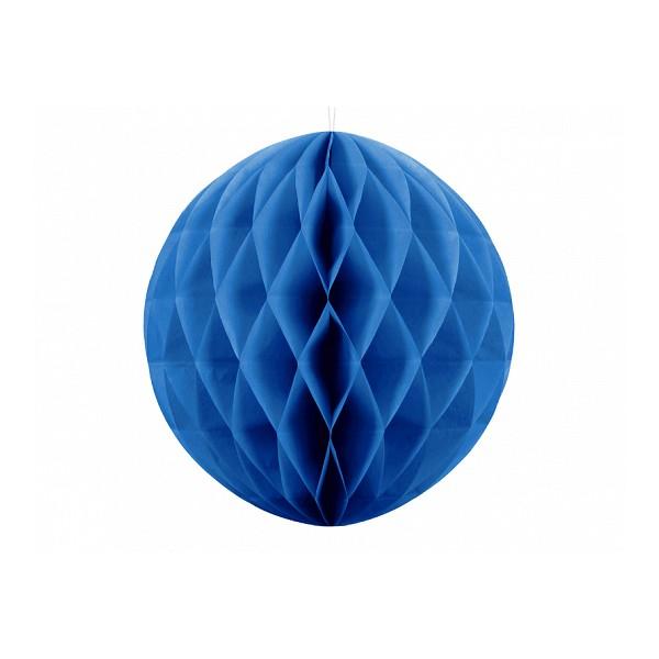 Kula bibułowa niebieska 20cm