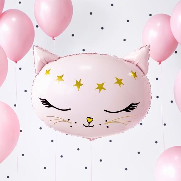 Balon foliowy Kotek różowy 48x36cm