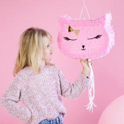 Piniata Kotek różowy 35x27x9cm