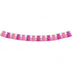 Girlanda papierowa Misie różowa 3.6 m