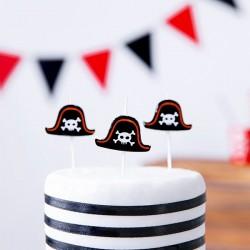 Świeczki urodzinowe Piraci 5szt
