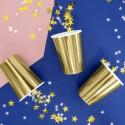 Kubeczki metaliczne złote 220ml 6szt