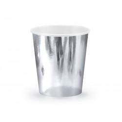 Kubeczki metaliczne srebrne 180ml 6szt