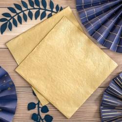 Serwetki metaliczne złote 33x33cm 20szt