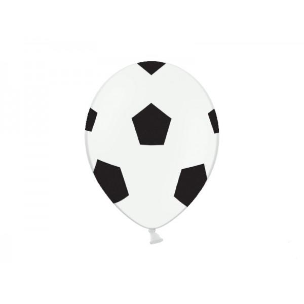 Balony pastelowe Piłka Nożna 12cali 30cm 6szt