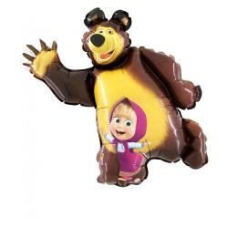 Balon foliowy Masza i Niedźwiedź 90cm