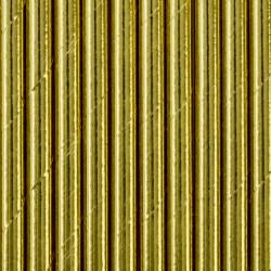 Słomki metaliczne papierowe złote 10szt