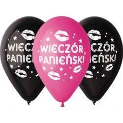 Balony pastelowe Wieczór Panieński 12cali 30cm 5szt