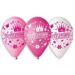 Balony pastelowe Księżniczka 12cali 30cm 5szt