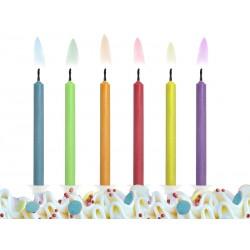 Świeczki urodzinowe Kolorowe Płomienie 6szt