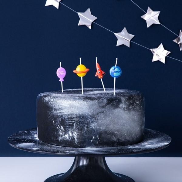 Świeczki urodzinowe Kosmos 4szt