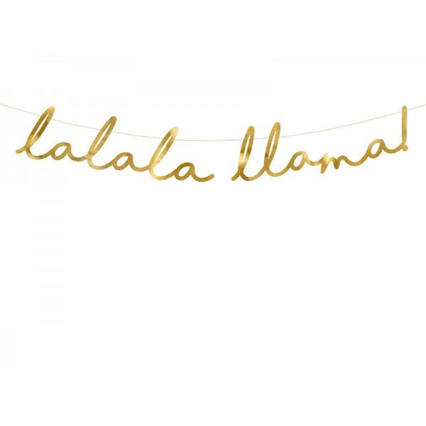 Baner Lama złoty 12,5x82cm