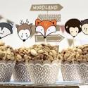 Zestaw do muffinek Woodland 12szt
