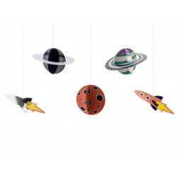 Zawieszki dekoracyjne Kosmos 5szt