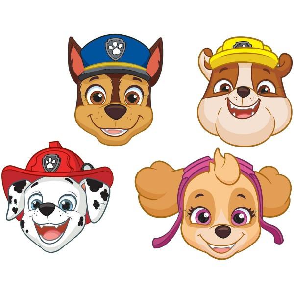 Maski papierowe Psi Patrol 8szt