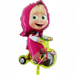 Balon foliowy Masha na rowerze 90cm