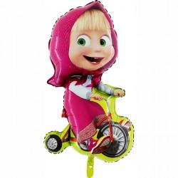 Balon foliowy Masza na rowerze 90cm