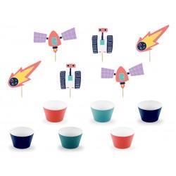 Zestaw do muffinek Kosmos 12szt