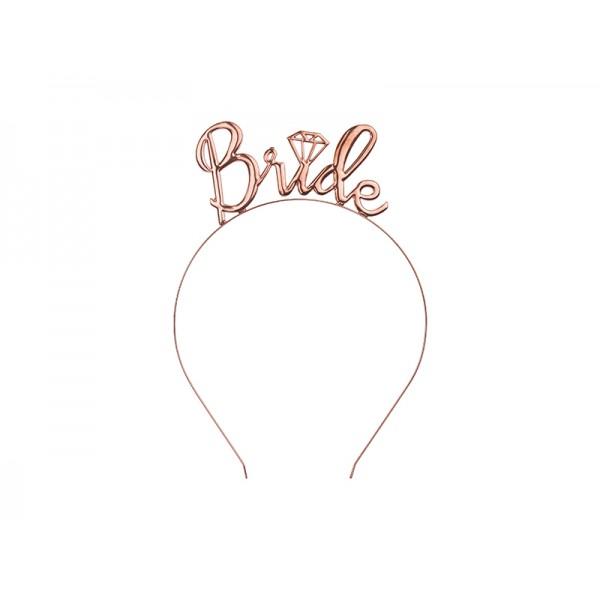 Opaska na włosy Bride rose gold  1szt