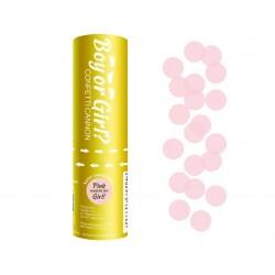 Tuba strzelająca konfetti różowe 15cm