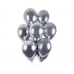 Balony chromowane srebrne 13cali 33cm 5szt