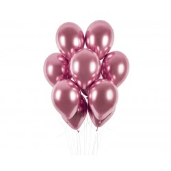 Balony chromowane rose gold 13cali 33cm 5szt