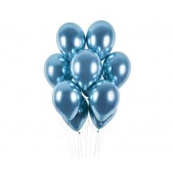 Balony chromowane niebieskie 13cali 33cm 5szt