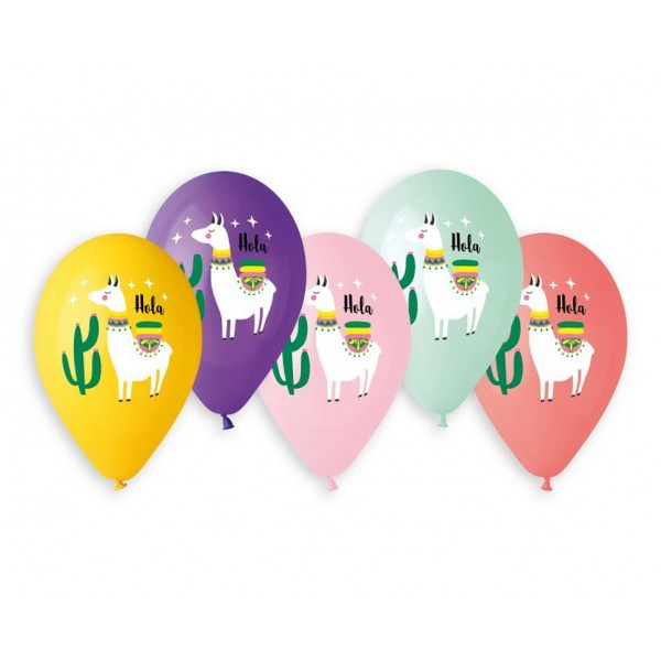 Balony pastelowe Lama 13cali 33cm 5szt