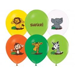 Balony pastelowe Safari 12cali 30cm 5szt