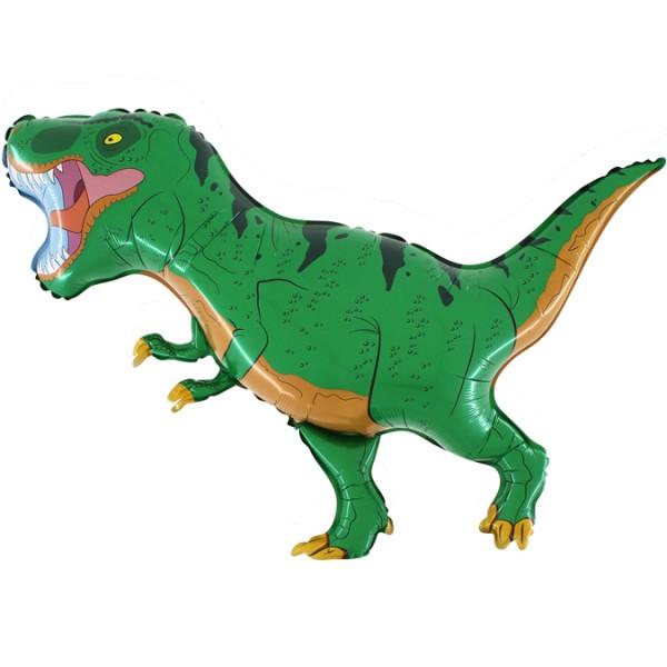 Balon foliowy Dinozaur Tyranozaur zielony 100x80cm