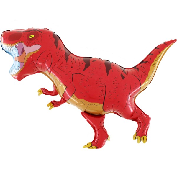 Balon foliowy Dinozaur Tyranozaur czerwony 100x80cm