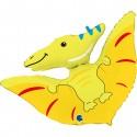 Balon foliowy Dinozaur Pterodaktyl żółty 34cali 86cm