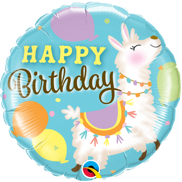Balon foliowy Lama Happy Birthday 18cali 46cm