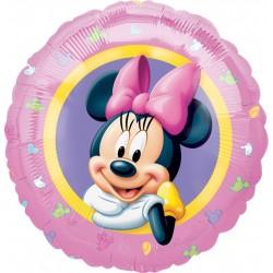 Balon foliowy Myszka Minnie różowy 18cali 46cm