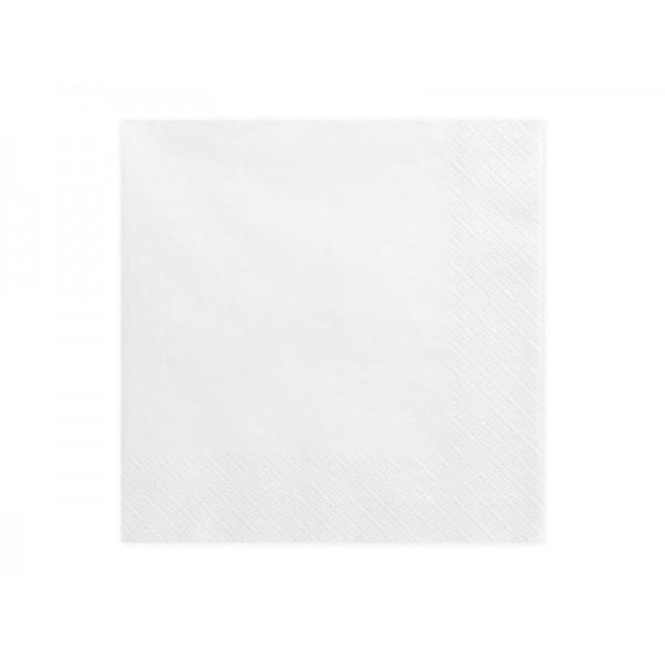 Serwetki trójwarstwowe białe 33x33cm 20szt