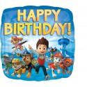 Balon foliowy Happy Birthday Psi Patrol 18cali 45cm