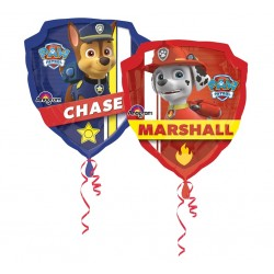 Balon foliowy Chase odznaka Psi Patrol 63x68cm