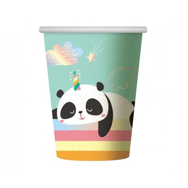 Kubeczki papierowe Panda 266ml 6szt