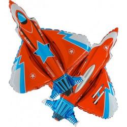 Balon foliowy Samolot Myśliwiec 21cali 76x83cm
