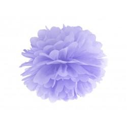 Pompon bibułowy 25 cm jasnoliliowy