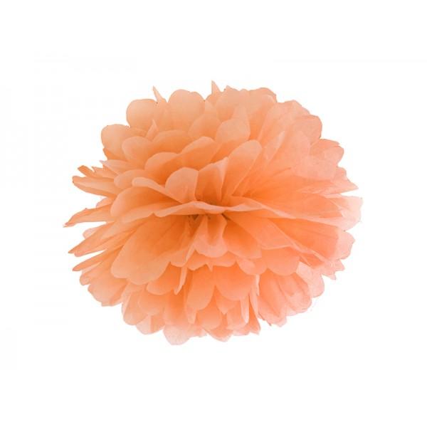 Pompon bibułowy 35 cm jasnopomarańczowy