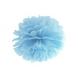 Pompon bibułowy 35 cm jasnoniebieski