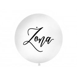 Balon Gigant z napisem Żona biały 1metr