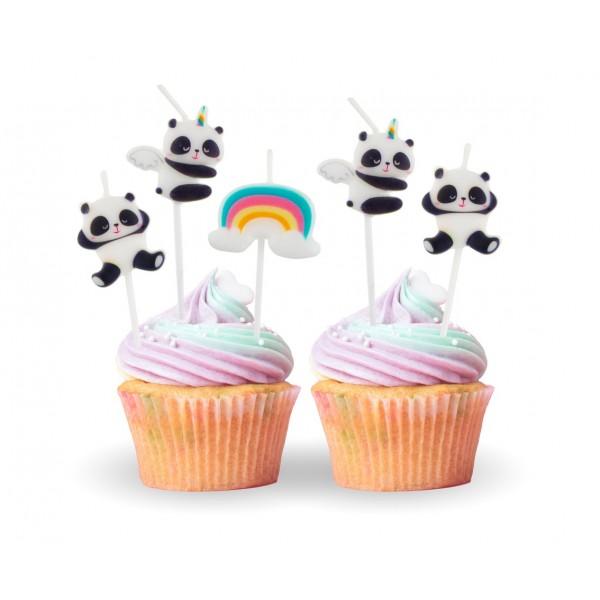 Świeczki urodzinowe Panda 5szt