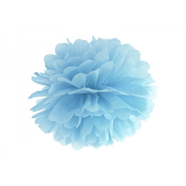 Pompon bibułowy 25 cm jasnoniebieski