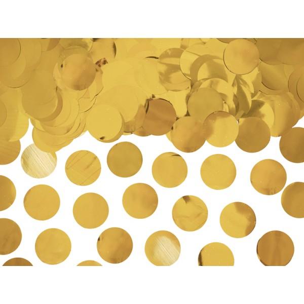 Konfetti metaliczne kółka złote 15g