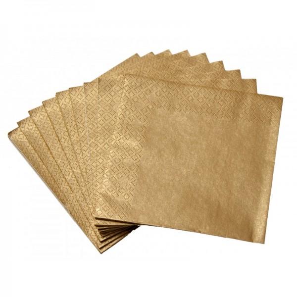 Serwetki metaliczne złote 40x40cm 20szt