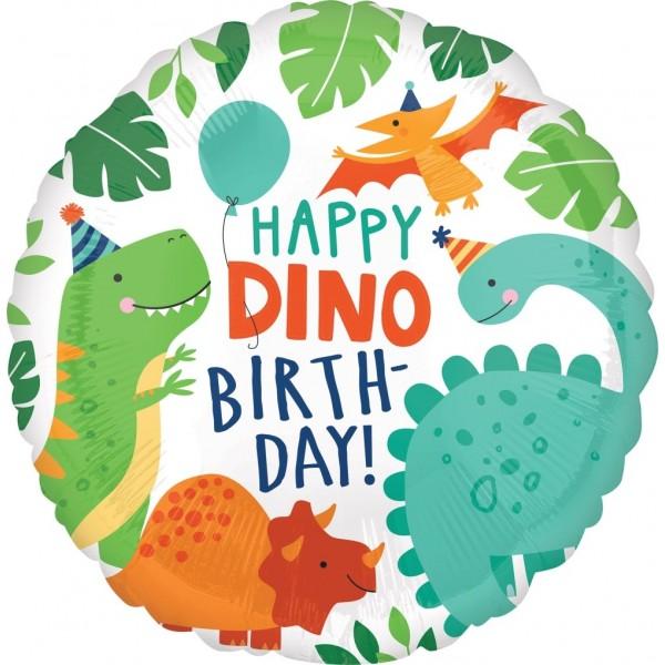 Balon foliowy Dinozaury 17cali 43cm